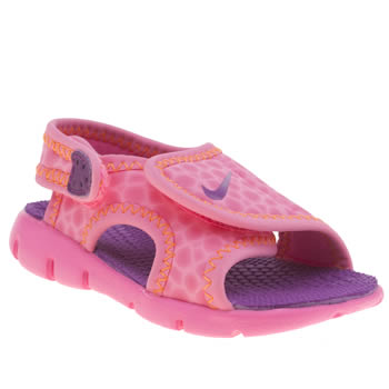 Girls Nike Pink Sunray Adjust 4 Girls Toddler
