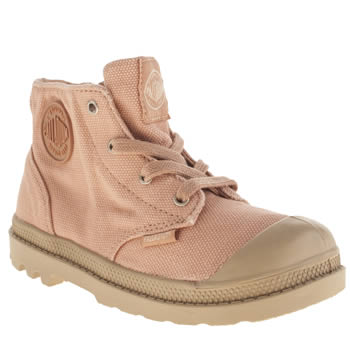 Girls Palladium Pale Pink Pampa Hi Zipper Girls Toddler