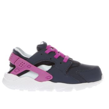 Nike Navy Huarache Run Girls Toddler