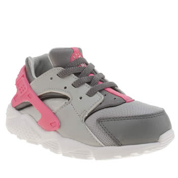 Nike Grey Huarache Run Girls Toddler
