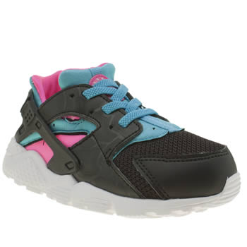Nike Black & pink Huarache Run Girls Toddler