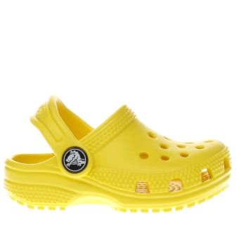 Crocs Yellow Classic Clog Girls Toddler