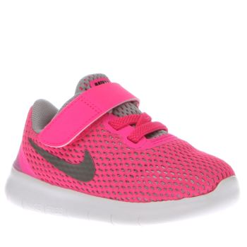 Girls Nike Pink Free Rn Girls Toddler