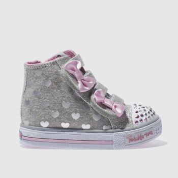 Skechers Silver Twinkle Toes Doodle Girls Toddler