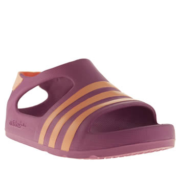 Adidas Purple Adilette Play Girls Toddler