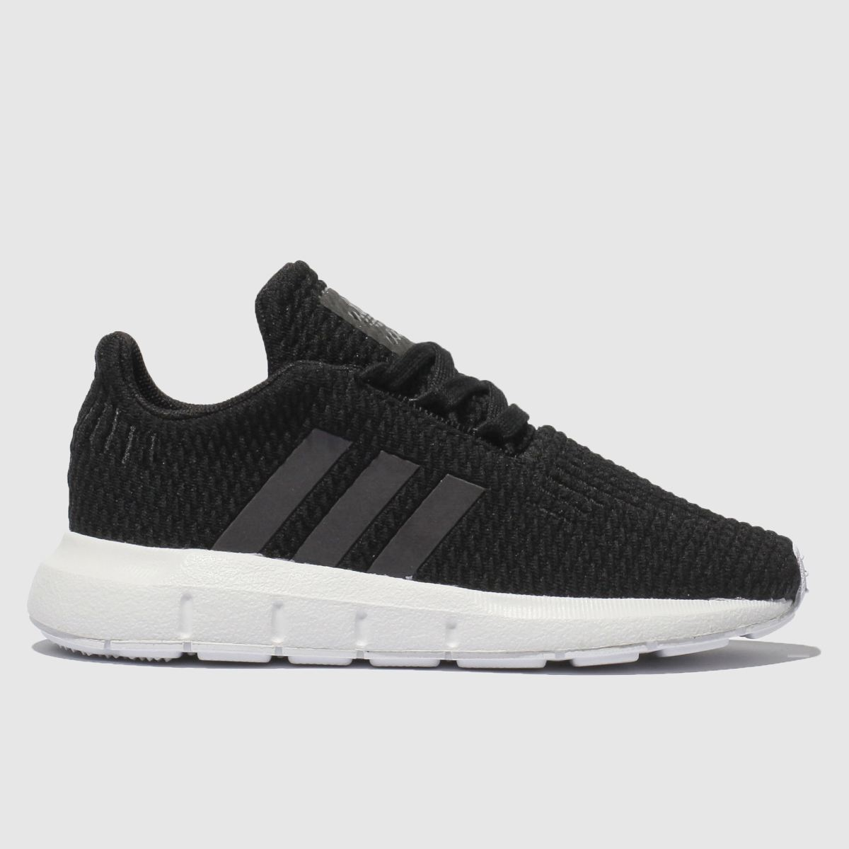 Adidas Black And Blue Swift Run Trainers Toddler
