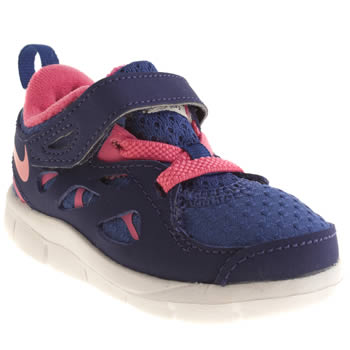 Girls Nike Blue Free Run 2-0 Girls Toddler