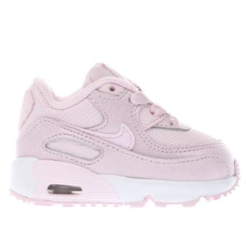 Nike Pink AIR MAX 90 MESH Girls Toddler