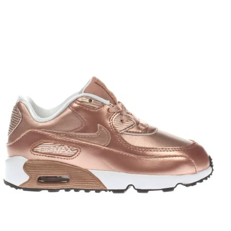 girls rose gold nike air max 90 se toddler trainers schuh. Black Bedroom Furniture Sets. Home Design Ideas