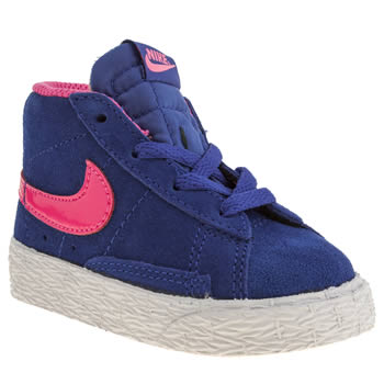 Nike Blue Blazer Mid Vintage Girls Toddler