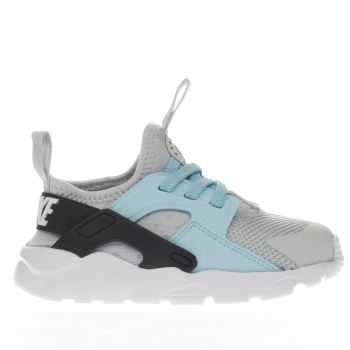 Nike Light Grey Huarache Run Ultra Girls Toddler
