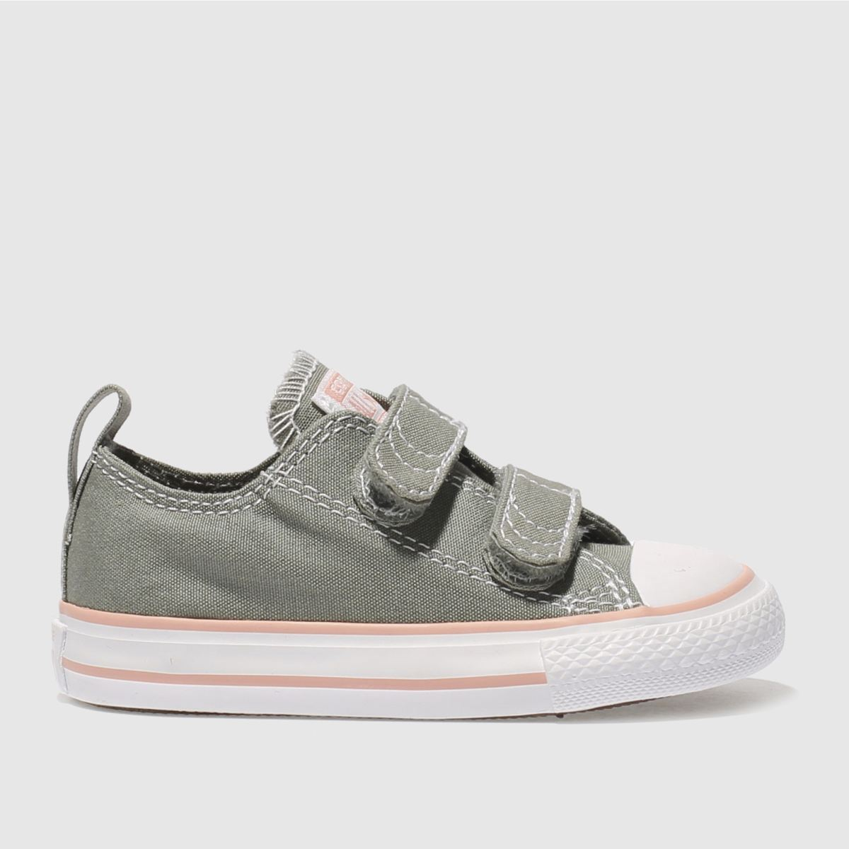 Converse Khaki Chuck Taylor All Star Lo 2v Girls Toddler Trainers