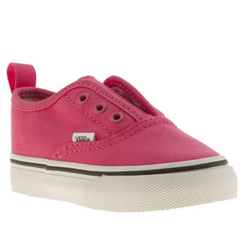 Vans Pink Authentic V Girls Toddler