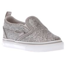 Vans Silver Classic Slip On Girls Toddler