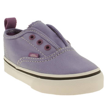 kids vans lilac authentic v trainers