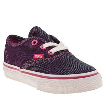 Vans Purple Authentic Shimmer Girls Toddler