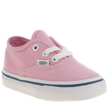 Girls Vans Pale Pink Authentic Girls Toddler