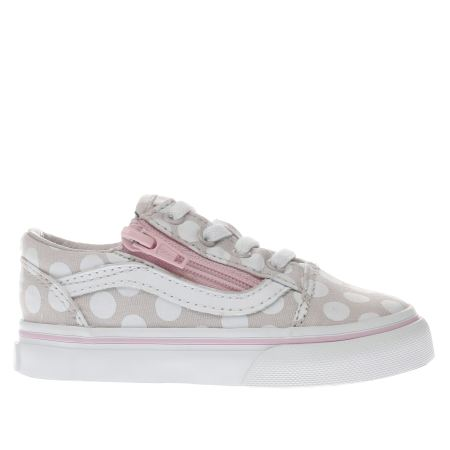 girls beige vans old skool zip girls toddler schuh. Black Bedroom Furniture Sets. Home Design Ideas