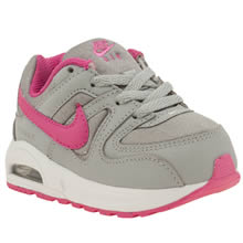 Nike Light Grey Air Max Command Flex Girls Toddler