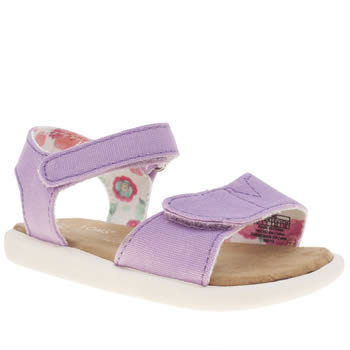 Girls Toms Lilac Sandal Girls Toddler
