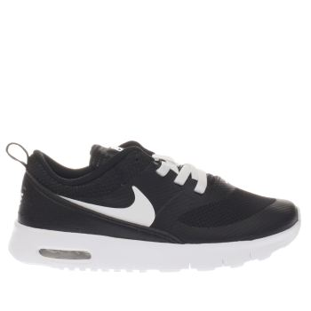 NIKE BLACK & WHITE AIR MAX THEA GIRLS TODDLER TRAINERS