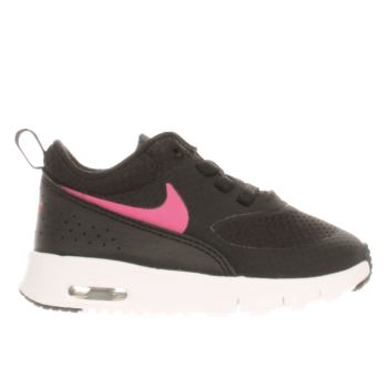 NIKE BLACK & PINK AIR MAX THEA GIRLS TODDLER TRAINERS