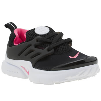 Nike Black & pink Presto Girls Toddler