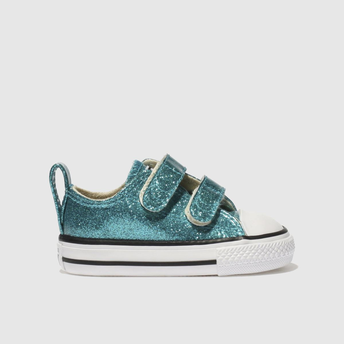 Converse Turquoise All Star Glitter Girls Toddler Toddler