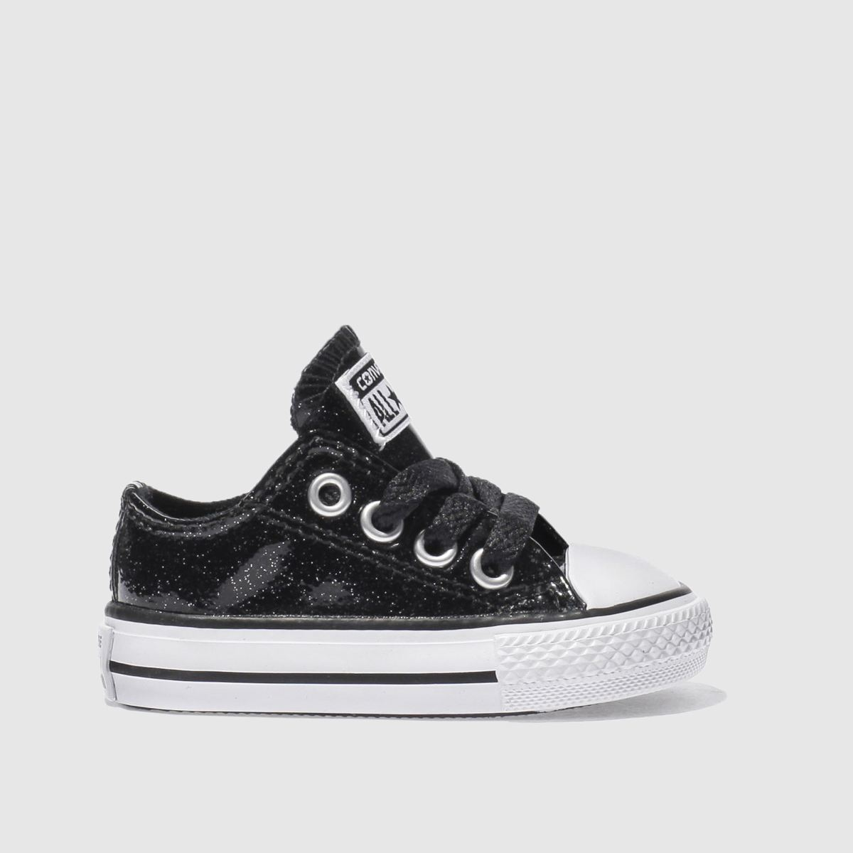 converse black all star glitter Girls Toddler Trainers