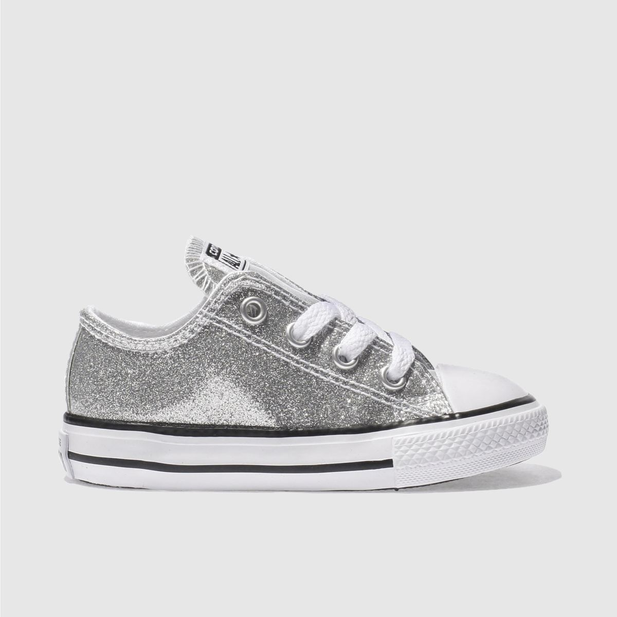 converse silver all star ox glitter Girls Toddler Trainers
