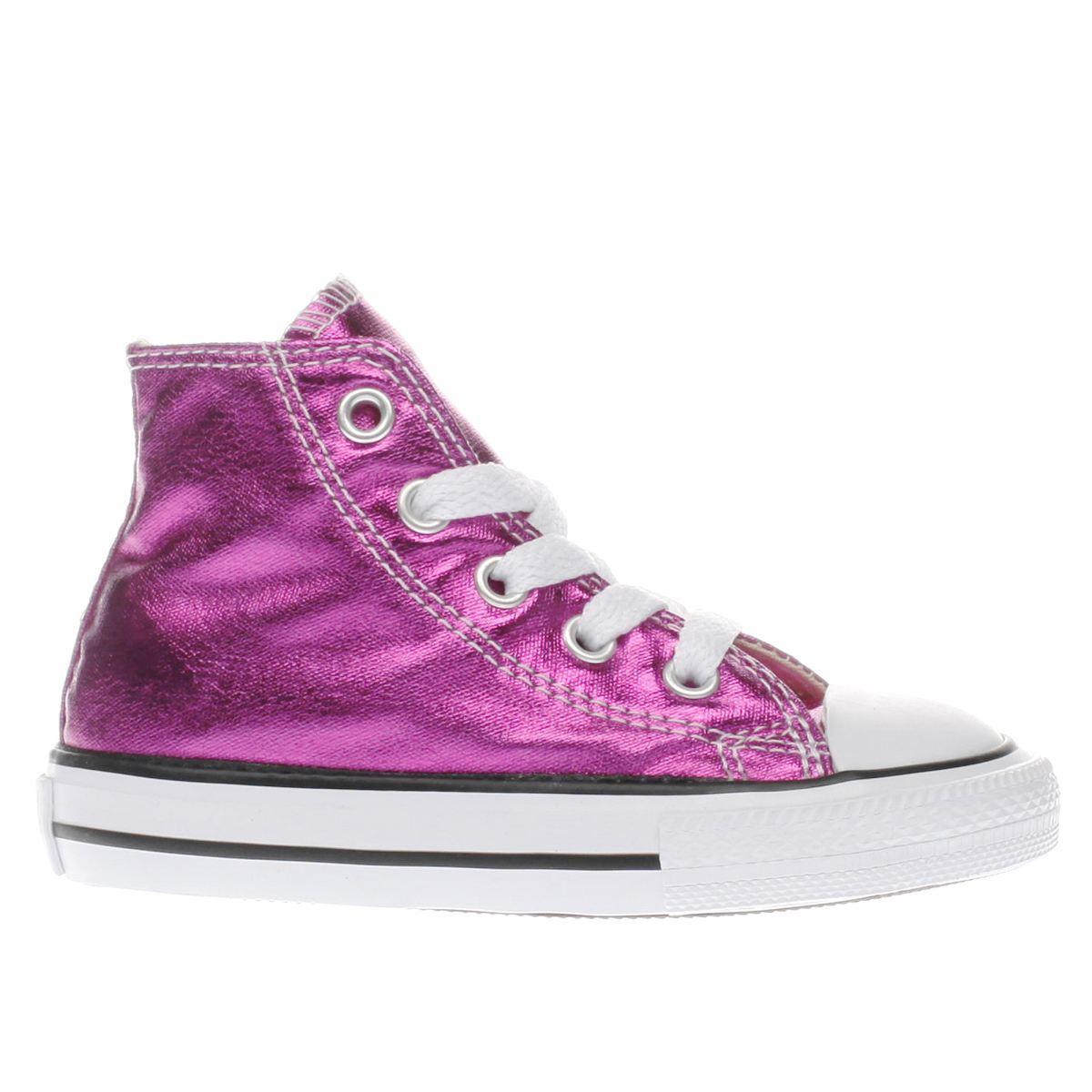 Converse Pink Chuck Taylor All Star Hi Girls Junior Trainers