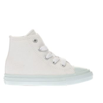 Converse White & Green Chuck Taylor Ii Hi Girls Toddler