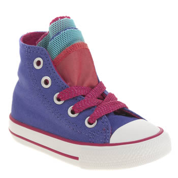 Converse Purple All Star Shine Party Hi Girls Toddler