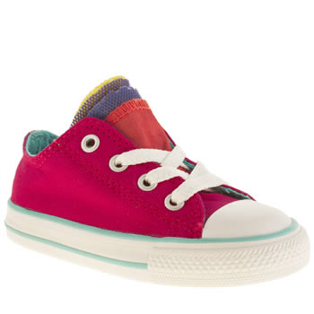 Girls Converse Pink All Star Oxford Party Girls Toddler