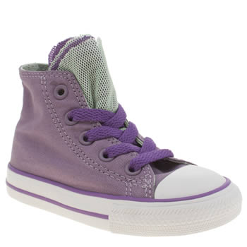 Girls Converse Lilac All Star Party Hi Girls Toddler