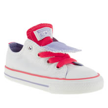 Toddler White & Pink Converse All Star Double Tongue
