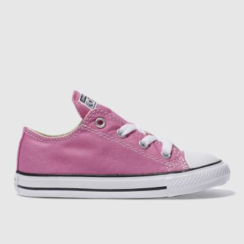 Girls Converse Pink All Star Lo Girls Toddler