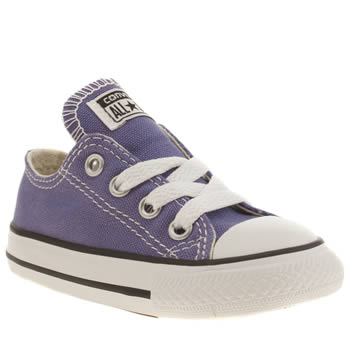Girls Converse Purple All Star Lo Girls Toddler
