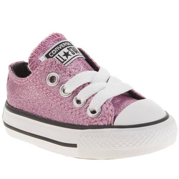 Girls Converse Pink All Star Glitter Oxford Girls Toddler