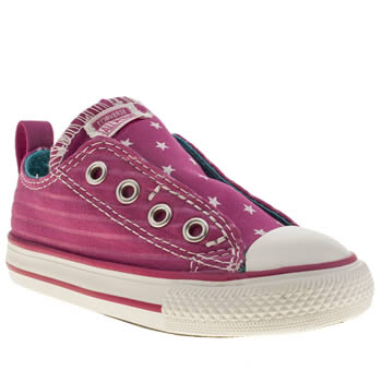 Converse Pink All Star Simple Slip Girls Toddler