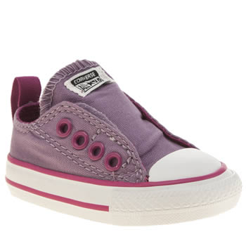 Converse Lilac All Star Simple Slip Girls Toddler