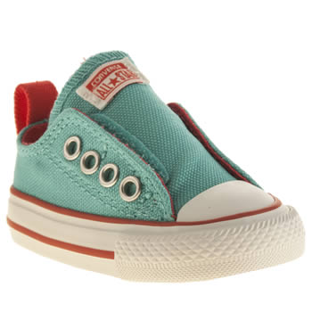 Converse Turquoise All Star Simple Slip Girls Toddler