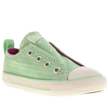Converse Light Green All Star Simple Slip Girls Toddler