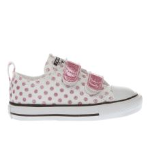 Converse White & Pink All Star Ox 2v Girls Toddler