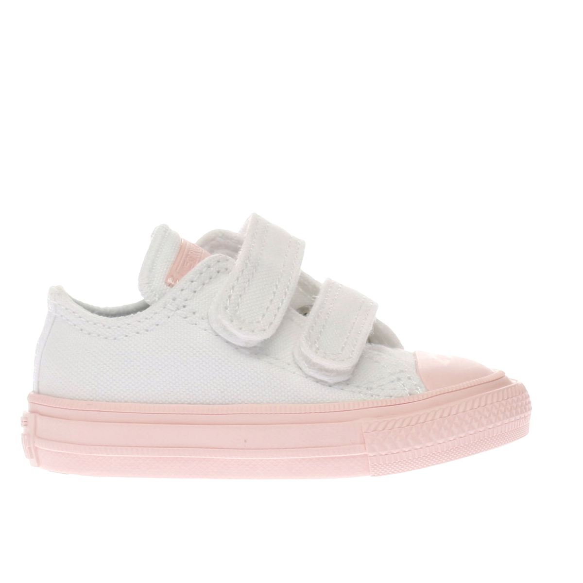 converse white & pink chuck taylor ii ox Girls Toddler Trainers