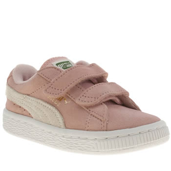 Puma Pale Pink Suede Classic Girls Toddler