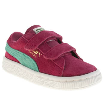 Girls Puma Pink Suede Classic Girls Toddler