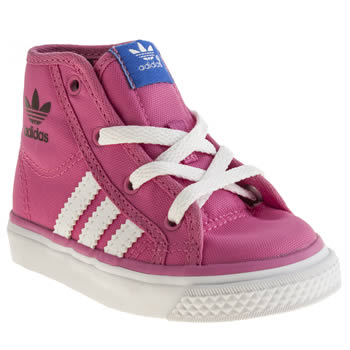 Adidas Pink Nizza Hi Girls Toddler