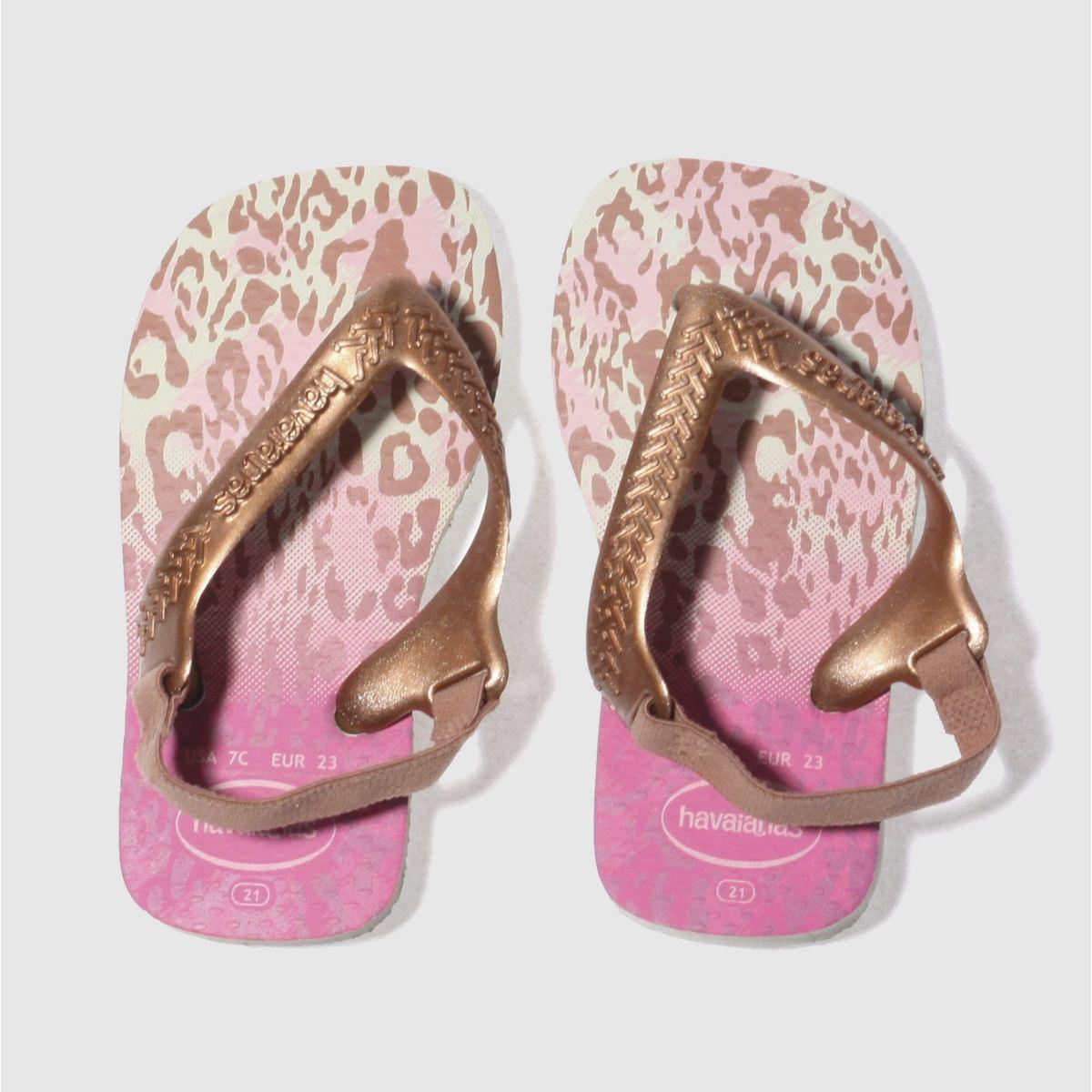 Havaianas Pink Chic Ii Girls Toddler Sandals