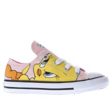 Converse Pink & Yellow Looney Tunes Tweety Girls Toddler